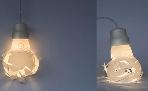 2x brekende lamp