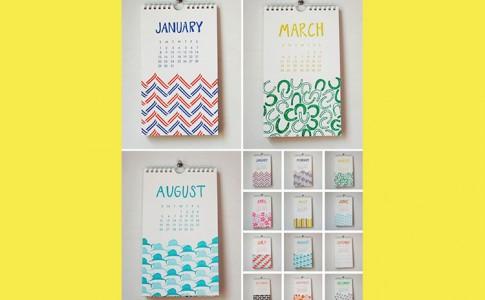 kleurige kalender