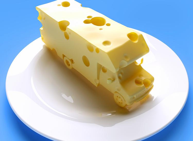 Geen kaas van gegeten