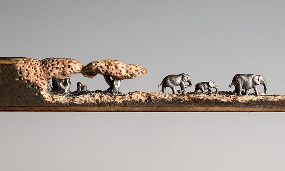 077 potlood olifanten